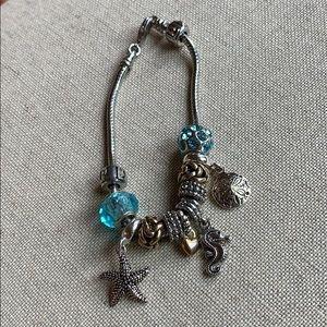 Never worn, beach charm bracelet